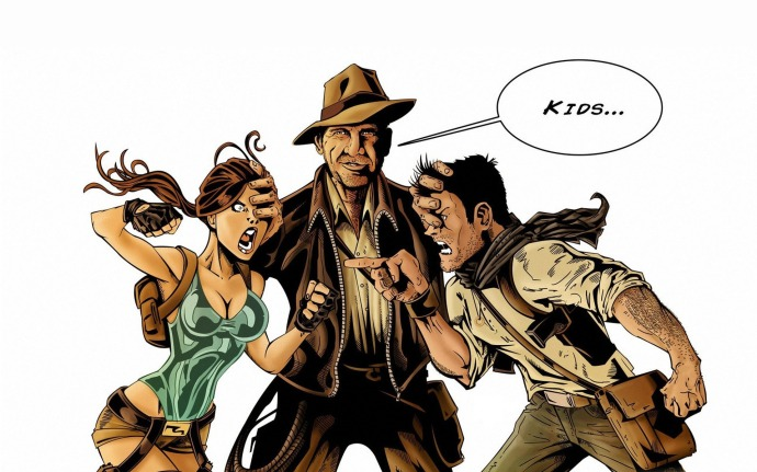 Indiana Jones, Lara Croft and Nathan Drake